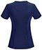 Photograph of Infinity Women Mock Wrap Top Blue 2625A-NYPS