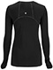 Photograph of Infinity Women Long Sleeve Underscrub Knit Tee Black 2626A-BAPS