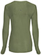 Photograph of Infinity Women's Long Sleeve Underscrub Knit Tee Green 2626A-OLPS