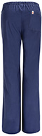 Photograph of Code Happy Bliss Women's Mid Rise Moderate Flare Drawstring Pant Blue 46002AB-NVCH