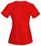 Photograph of Bliss Women's V-Neck Top Red 46600A-RECH