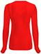 Photograph of Code Happy Bliss Women's Long Sleeve Underscrub Knit Tee Red 46608A-RECH