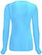Photograph of Code Happy Bliss Women's Long Sleeve Underscrub Knit Tee Blue 46608A-TQCH