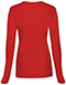 Photograph of WW Originals Women's Long Sleeve Underscrub Knit Tee Red 4881-REDW