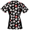 Photograph of Cherokee Prints Women V-Neck Knit Panel Top Hello Kitty Hugs 6810C-HKUG