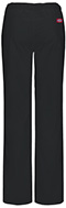 Photograph of Dickies EDS Signature Stretch Women's Low Rise Straight Leg Drawstring Pant Black 82212AP-BLWZ