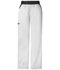 Photograph of Cherokee Flexibles Women's Mid Rise Knit Waist Pull-On Pant White 1031P-WHTS