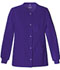 Photograph of Luxe Women's Snap Front Warm-Up Jacket Purple 1330-GRPV