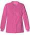 Photograph of Luxe Women's Snap Front Warm-Up Jacket Pink 1330-ROSV