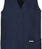 Photograph of Fashion Solids Women Button Front Vest Blue 1602-NAVY