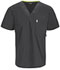 Photograph of Code Happy Bliss Men's Men's V-Neck Top Gray 16600AB-PWCH