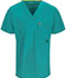 Photograph of Code Happy Bliss Men's Men's V-Neck Top Green 16600AB-TLCH
