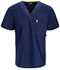 Photograph of Bliss Men's Men's V-Neck Top Blue 16600A-NVCH