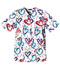 Photograph of Cherokee Prints Women's Snap Front Tunic White 1750-HRTB