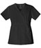 Photograph of Luxe Women Mock Wrap Top Black 1841-BLKV
