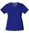 Photograph of Luxe Women Mock Wrap Top Blue 1841-GABV