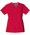 Photograph of Luxe Women's Mock Wrap Top Red 1841-REDV