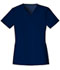 Photograph of Luxe Women's V-Neck Top Blue 1845-NAVV