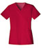 Photograph of Luxe Women's V-Neck Top Red 1845-REDV
