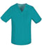 Photograph of Cherokee Luxe Men's Men's V-Neck Top Green 1929-TEAV