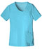 Photograph of Luxe Women's Crossover V-Neck Pin-Tuck Top Blue 1999-BLUV