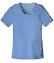 Photograph of Cherokee Luxe Women's Crossover V-Neck Pin-Tuck Top Blue 1999-CELV