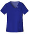 Photograph of Cherokee Luxe Women's Crossover V-Neck Pin-Tuck Top Blue 1999-GABV