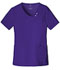 Photograph of Luxe Women's Crossover V-Neck Pin-Tuck Top Purple 1999-GRPV