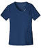 Photograph of Luxe Women's Crossover V-Neck Pin-Tuck Top Blue 1999-NAVV