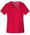 Photograph of Luxe Women's Crossover V-Neck Pin-Tuck Top Red 1999-REDV