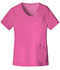 Photograph of Cherokee Luxe Women's Crossover V-Neck Pin-Tuck Top Pink 1999-ROSV