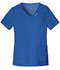 Photograph of Cherokee Luxe Women's Crossover V-Neck Pin-Tuck Top Blue 1999-ROYV