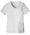 Photograph of Cherokee Luxe Women's Crossover V-Neck Pin-Tuck Top White 1999-WHTV