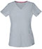 Photograph of Break on Through Women Shaped V-Neck Top Gray 20710-GRXH