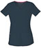 Photograph of Break on Through Women's Shaped V-Neck Top Gray 20710-PEWH