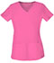 Photograph of HeartSoul Break on Through Women's Pitter-Pat Shaped V-Neck Top Pink 20710-PNKH