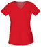 Photograph of Break on Through Women Shaped V-Neck Top Red 20710-RDHH