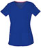 Photograph of HeartSoul Break on Through Women's Pitter-Pat Shaped V-Neck Top Blue 20710-ROYH