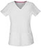 Photograph of HeartSoul Break on Through Women's Pitter-Pat Shaped V-Neck Top White 20710-WHIH