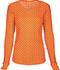 Photograph of HeartSoul Underscrub Knit Tees Women's Long Sleeve Underscrub Knit Tee Orange 20801-NEVO