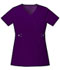 Photograph of Cherokee Luxe Women's Empire Waist Mock Wrap Top Purple 21701-EGGV