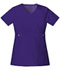 Photograph of Cherokee Luxe Women's Empire Waist Mock Wrap Top Purple 21701-GRPV