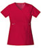Photograph of Cherokee Luxe Women's Empire Waist Mock Wrap Top Red 21701-REDV