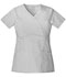 Photograph of Luxe Women Empire Waist Mock Wrap Top White 21701-WHTV