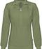 Photograph of Infinity Women Zip Front Jacket Green 2391A-OLPS