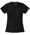 Photograph of Cherokee Flexibles Women\'s Mock Wrap Knit Panel Top Black 2500-BLKB