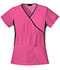 Photograph of Cherokee Flexibles Women\'s Mock Wrap Knit Panel Top Pink 2500-SHPB