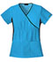 Photograph of Cherokee Flexibles Women\'s Mock Wrap Knit Panel Top Blue 2500-TRQB
