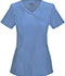 Photograph of Infinity Women Mock Wrap Top Blue 2625A-CIPS