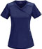 Photograph of Infinity Women's Mock Wrap Top Blue 2625A-NYPS